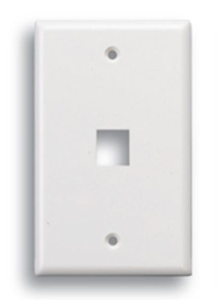 Keystone 1 Port Face Plate White