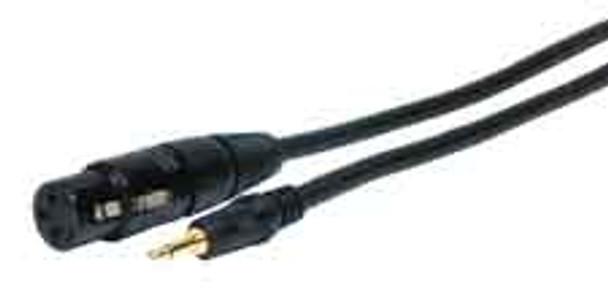 Standard Series XLR Jack to 3.5mm Mini Plug Audio Cable 6ft