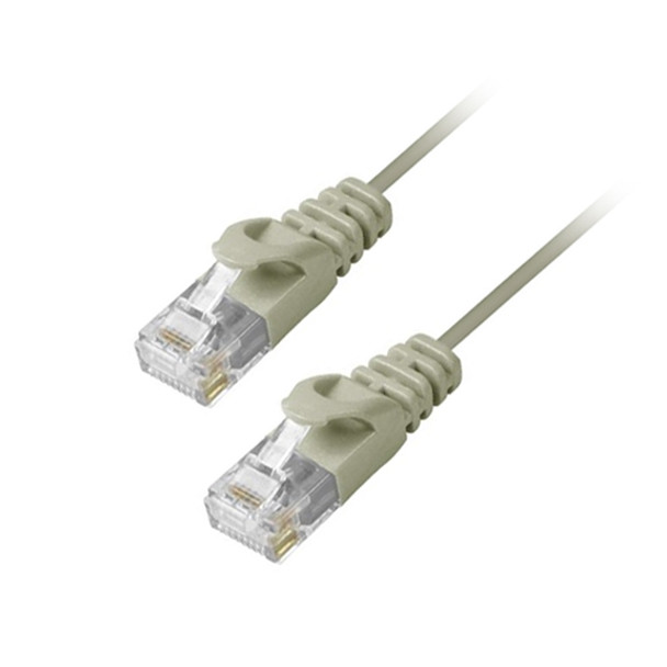MicroFlex Pro AV/IT CAT6 Snagless Patch Cable Gray 3ft