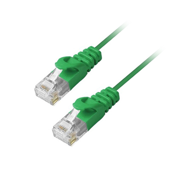 MicroFlex Pro AV/IT CAT6 Snagless Patch Cable Green 3ft