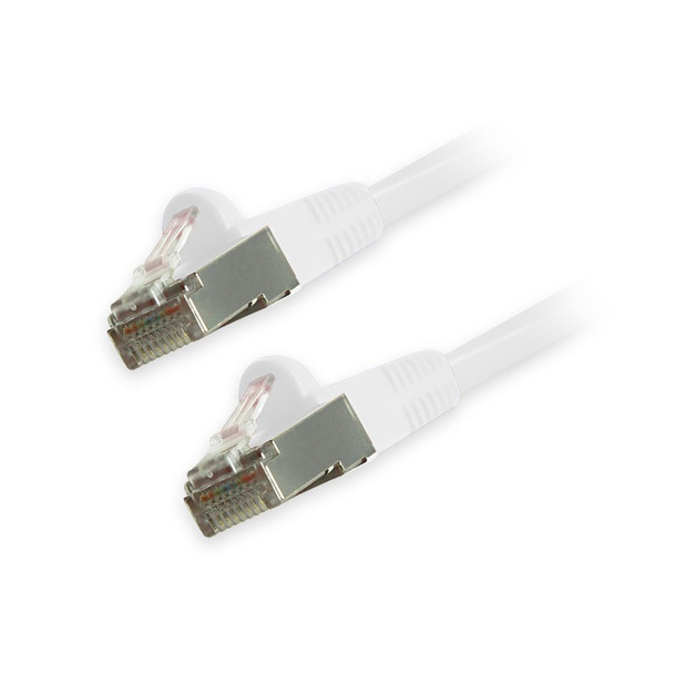 Cat6 Snagless Shielded Ethernet Cables, White, 15ft