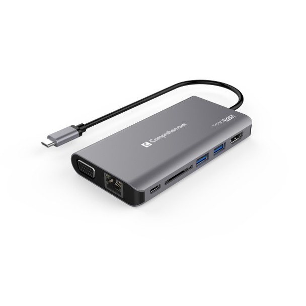 VersaDock USB-C 4K Dual Display Docking Station with HDMI, VGA & Ethernet