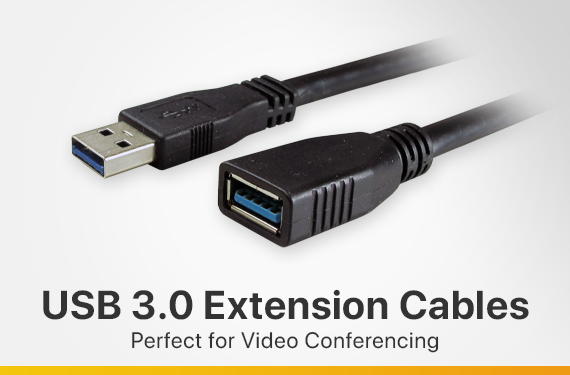 USB 3.0 Extension Cables for Video Conferencing