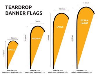 Tear Drop and Feather Flags