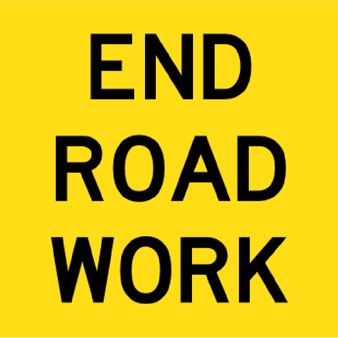 T9-26 - End Road Work - 600x600mm