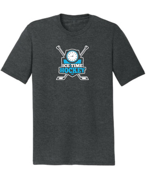 Ice Time Hockey Men's Triblend Tee - Black Frost