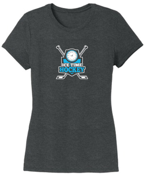 Ice Time Hockey Women's Triblend Tee - Black Frost