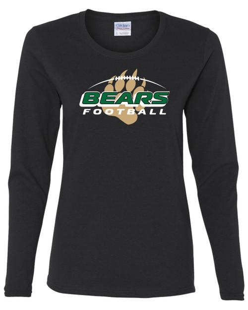 Ladies Bear Creek Football Long Sleeve Tee
