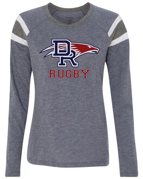 Women's DRHS Rugby Longsleeve Fan Tee