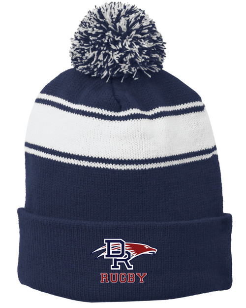 DRHS Rugby Embroidered Pom Beanie