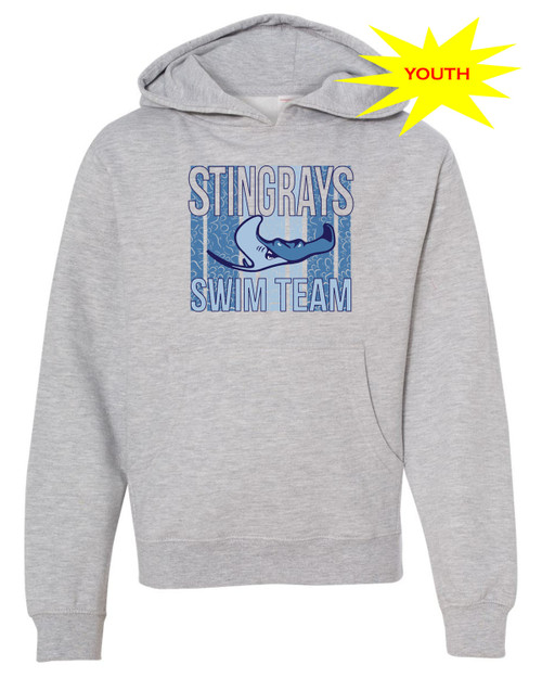 Stingrays Youth Fleece Pullover Hoodie
