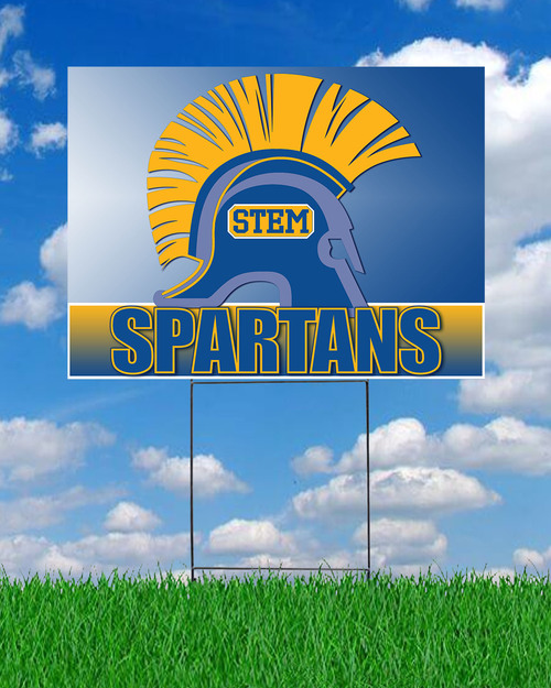 STEM Spartans Yard Sign