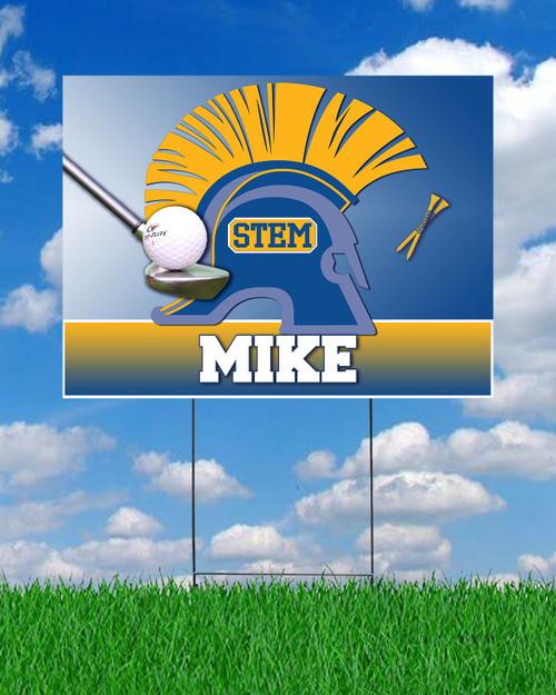 STEM Golf Yard Sign