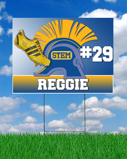 STEM Track and Field Yard Sign