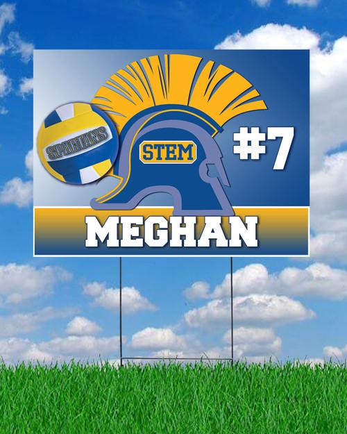 STEM Volleyball Yard Sign