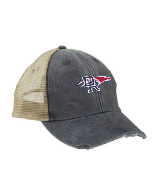 DRHS Volleyball Distressed Trucker Hat