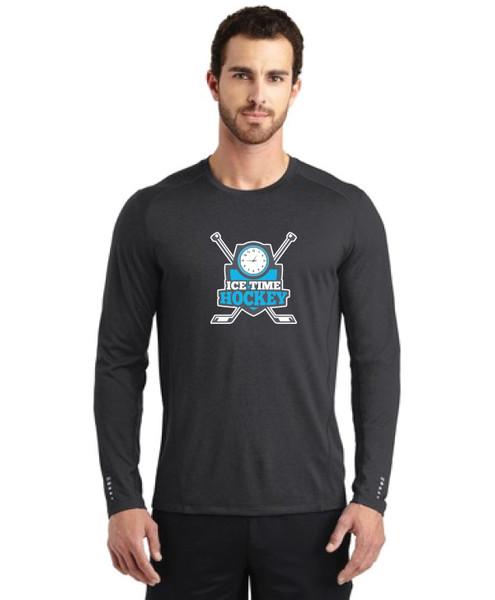 Ice Time Hockey Performance Long Sleeve Crewneck - Blacktop