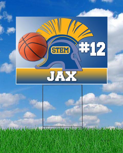 STEM Basketball Yard Sign