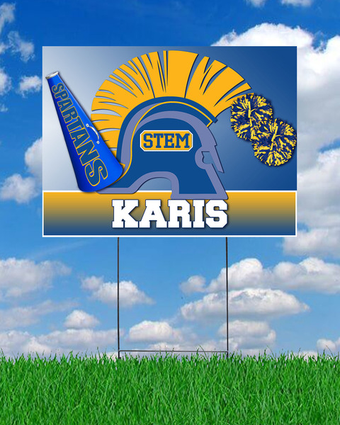 STEM Cheer Yard Sign