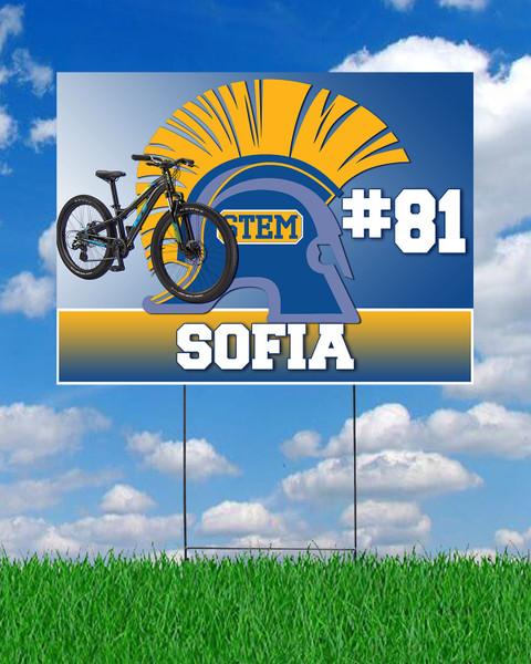 STEM Mountain Bike Yard Sign
