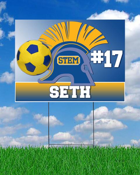 STEM Soccer Yard Sign