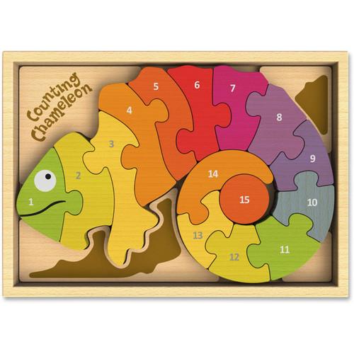Counting Chameleon Puzzle (Bilingual English/Spanish)