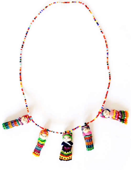 Folklore Worry Doll Necklace