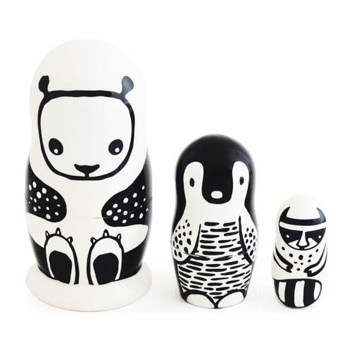 Black and White Nesting Dolls