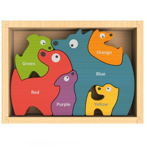 Bilingual Colors Dog Family Puzzle
