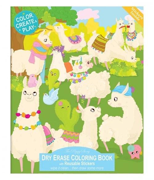 Llama Drama Dry Erase Coloring Book