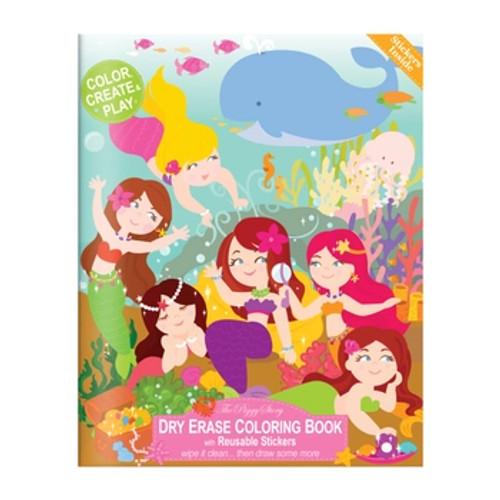 Magical Mermaids Dry Erase Coloring Book