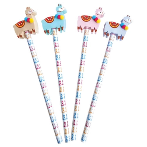 Pencil with Eraser Toppers- Oh My Llama