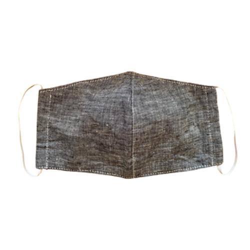 Adult Linen Unisex Mask with Filter Pocket - Color Gray