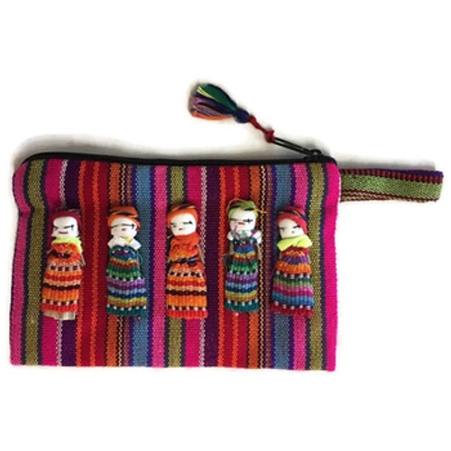 Sustainable Fabric Worry Doll Pouch - Guatemala