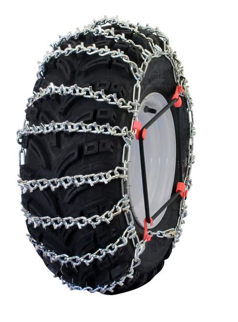 Grizzlar GTU-533 ATV 2 Link Ladder Alloy Tire Chains with Tensioners 28x10-12 26x11-12 26x12-12