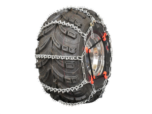 Grizzlar GTU-629 ATV 4 Link Ladder Alloy Tire Chains with Tensioners 24x8-11 24x8-12 25x8-12