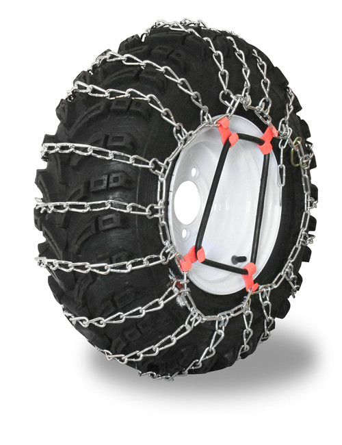 Grizzlar GTU-288 Garden Tractor 2 link Ladder Alloy Tire Chains Tensioner included 24x12.00-12