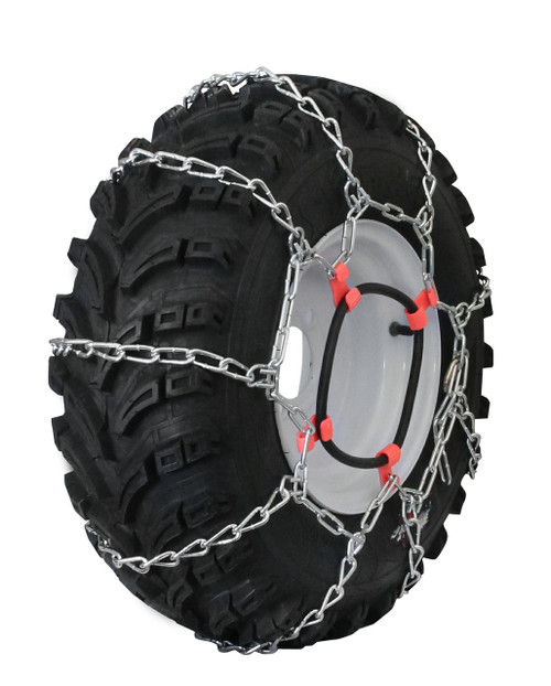 Grizzlar GTU-431 Garden Tractor 4 Link Ladder Alloy Tire Chains Tensioner included 24x13.00-12 26x10.00-12 26x11.00-12 26x12.00-12