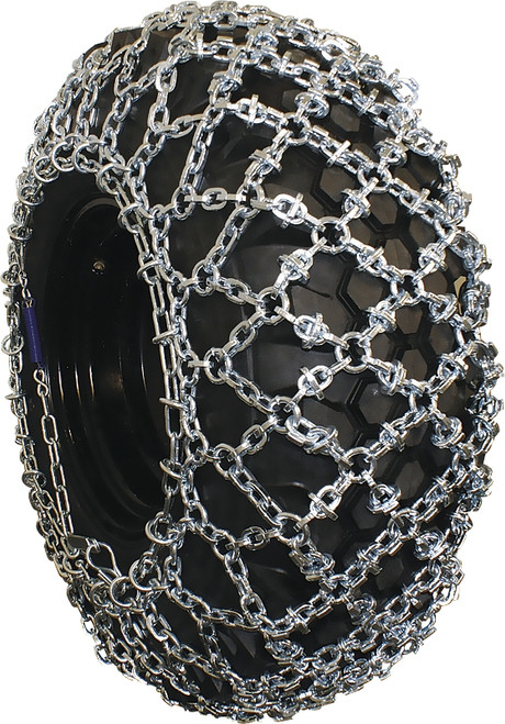 Grizzlar GRM-224 Grader, Scraper and Heavy Equipment Type OTR Diamond Net Tire Chains Pair 17.5-24 17.5-25