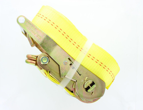 "Self tightening Safety 2"" x 30' Heavy Duty Tie Down Ratchet Straps with J hooks (2 piece)"