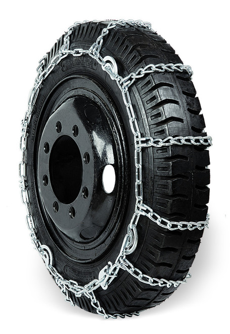 Grizzlar GSL-4249 Alloy Truck Ladder Dual Triple Twist Link Tire Chains 10.00-22, 11-24.5