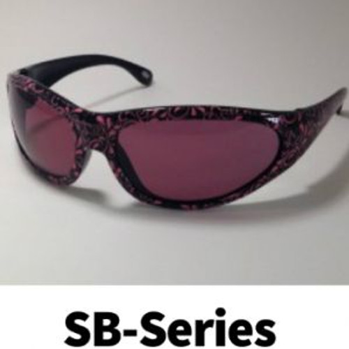 Polycarbonate Sodium Flare Eye Protection - Pink