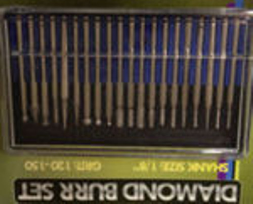 20 Piece Diamond Burr Rotary Tool Tips