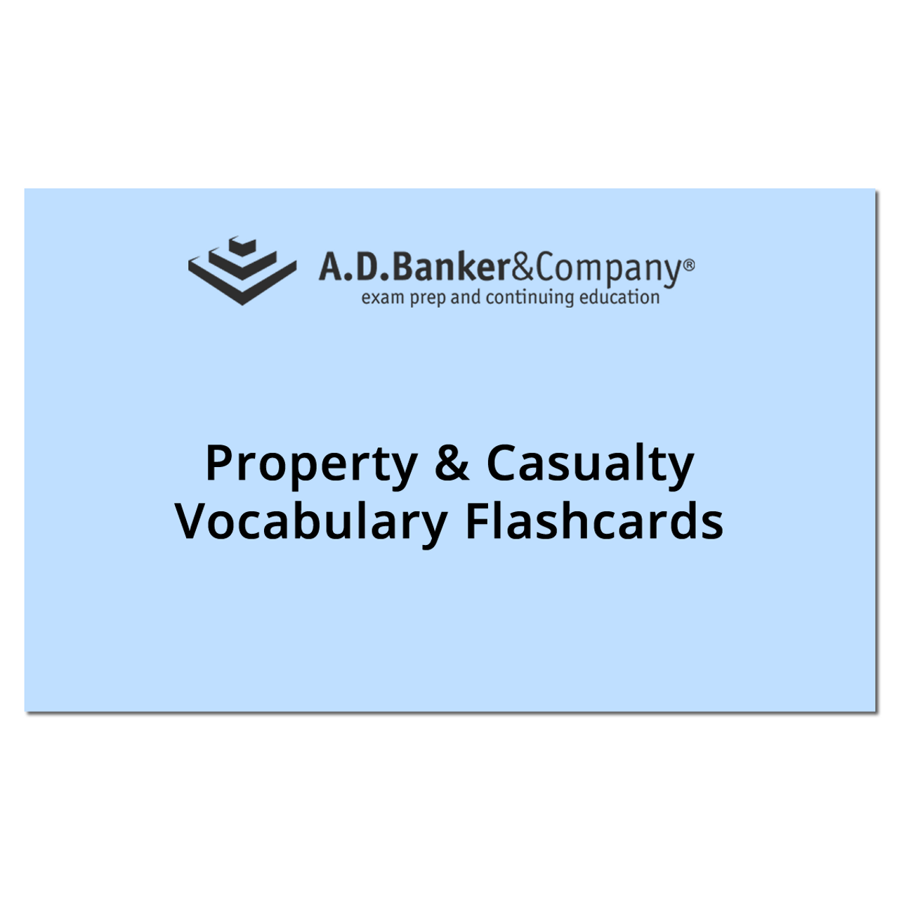 Property & Casualty Vocabulary Flashcards(Spanish) (Direct ship from AD  BANKER)