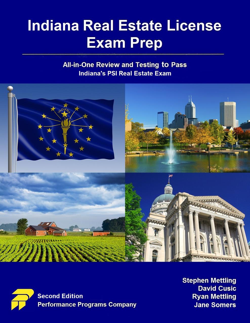 Indiana Real Estate License Exam Prep - PDF version