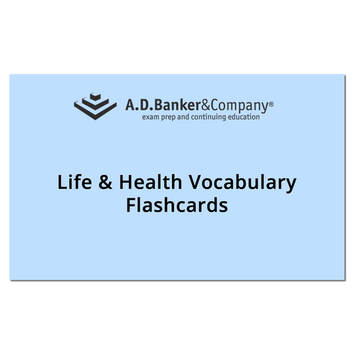 Life & Health Vocabulary Flashcards(Spanish)(Direct ships from AD BANKER  via USPS)