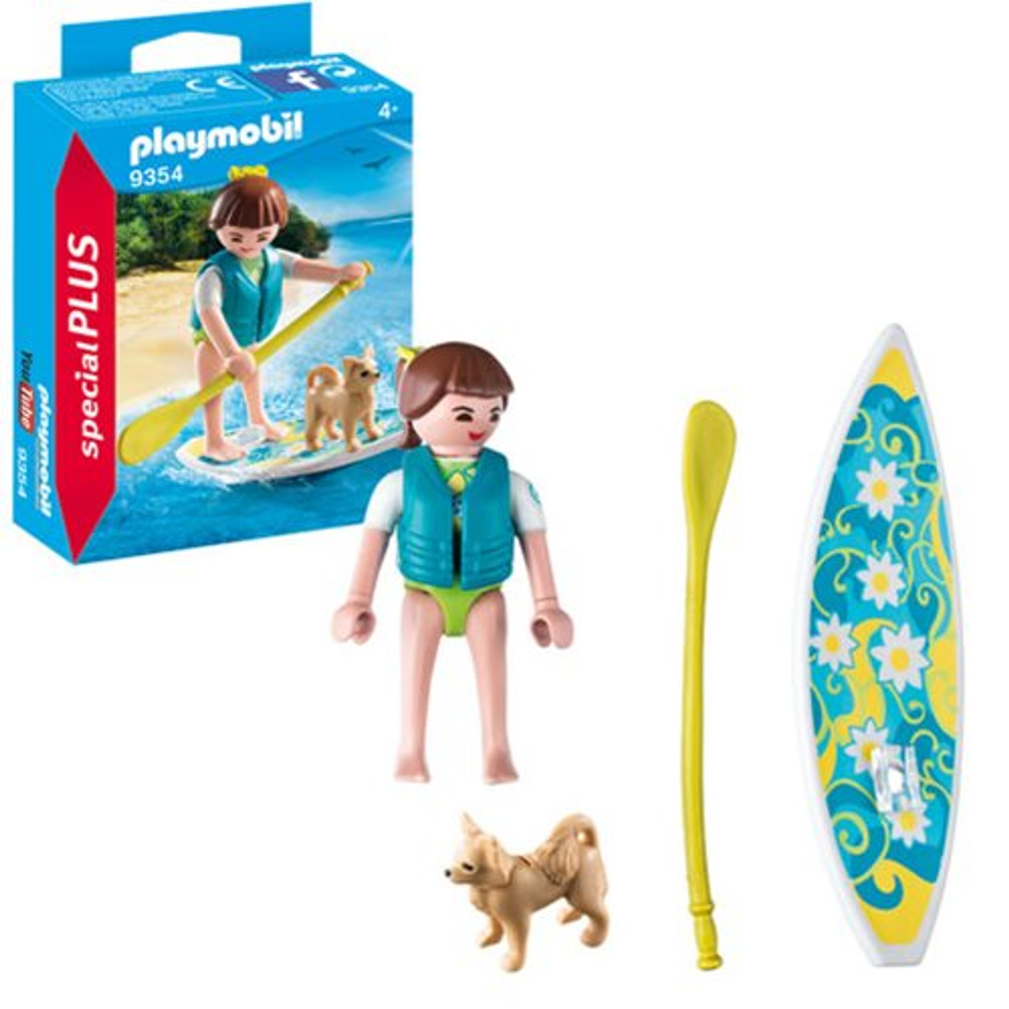 Summer Water Fun PLAYMOBIL Figure S350 Male Boater w// Life Jacket