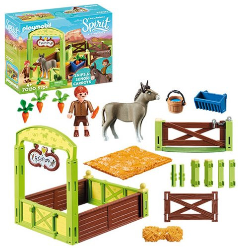 Playmobil - Snips & Senor Carrots with Horse Stall