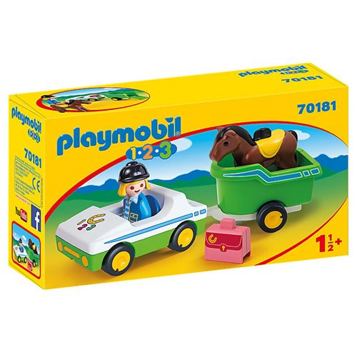 Playmobil 123 - Car with Horse Trailer