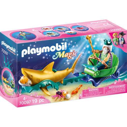 Playmobil - King of the Sea with Shark Carriage